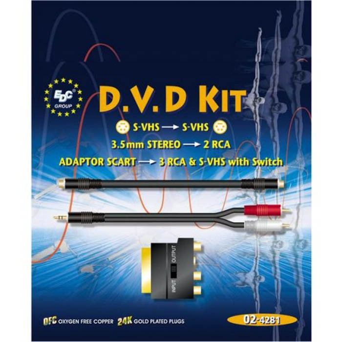 DVD Kit Cinch Audio Anschluss TV Video – Bild 2
