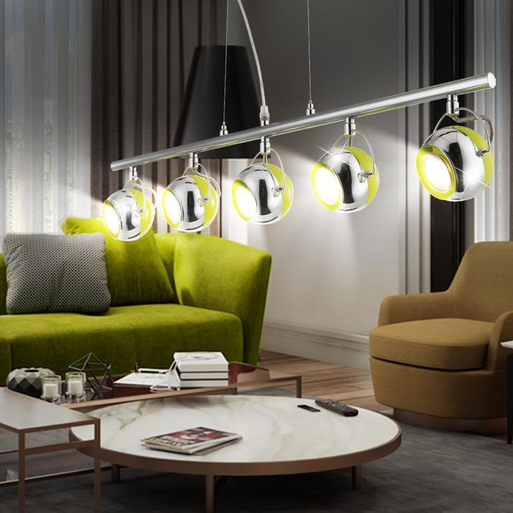 LED Hängeleuchte mit fünf Chromkugeln HULK – Bild 2