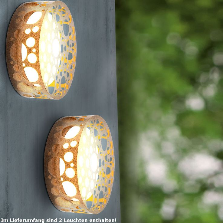 Robust wall lights for your outdoor area in the set of 2 – Bild 2
