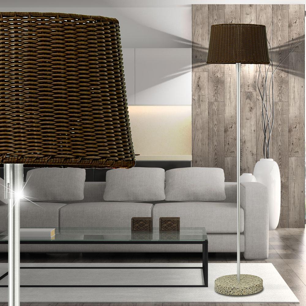 led steh lampe innen au en bereich schlaf zimmer veranda beleuchtung marmor fu ebay. Black Bedroom Furniture Sets. Home Design Ideas