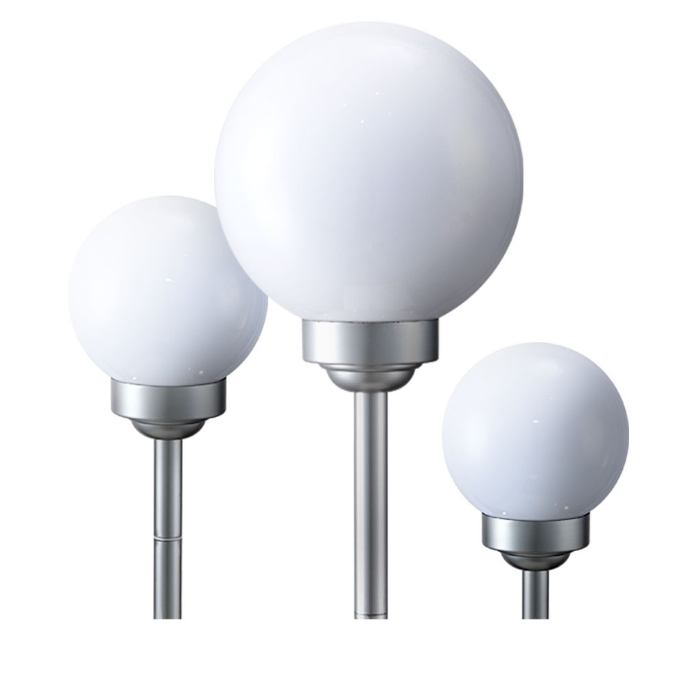 3 x lampes solaires del boules lumineuses blanc ip44 luminaire