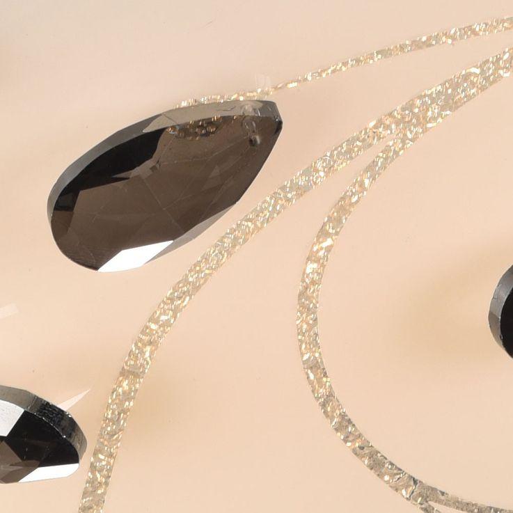 LED Wandlampe aus Metall und Glas mit Kristallen im Dekor – Bild 4