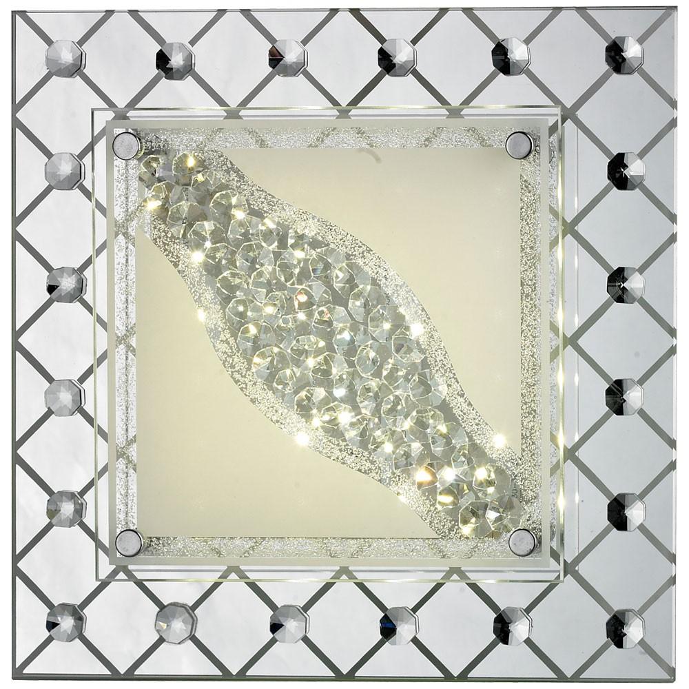 elegante led decken wandleuchte mit kristallmuster lampen m bel r ume wohnzimmer. Black Bedroom Furniture Sets. Home Design Ideas