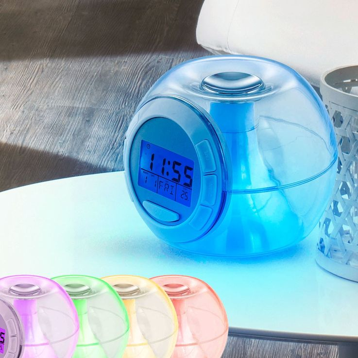 Elegant LED clock night table RGB clock color changing nature tones Eglo 75209 – Bild 2