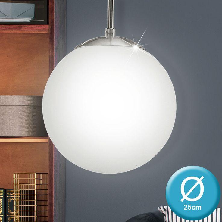 7 Watt LED Pendel Decken Leuchte Kugel Glas Wohnraum Loft Hänge Lampe EEK A+ Eglo 93198 – Bild 2
