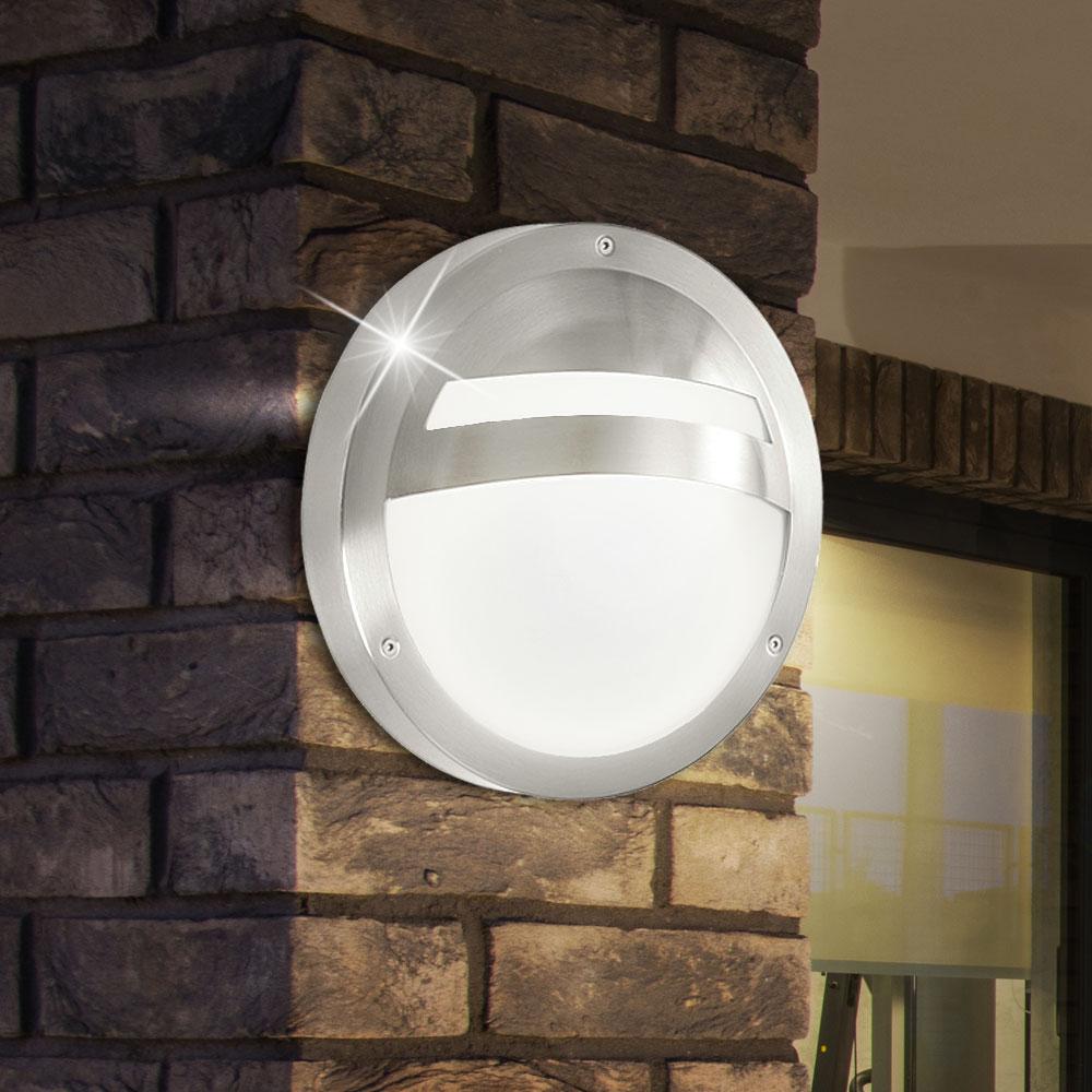 2er set hochwertige wandleuchten led 7w terrassen lampen rund durchmesser 28 5cm. Black Bedroom Furniture Sets. Home Design Ideas
