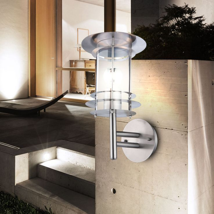 Stainless steel Wall lamp for outdoor use in the set of 2 – Bild 4