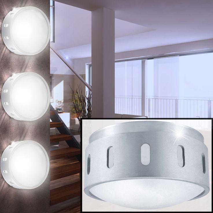 Conception de luminaires Á LED set 3 en verre dépoli – Bild 2