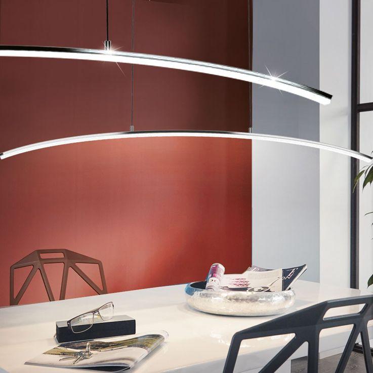 LED design hanging lamp 14 watt pendant lamp kitchens bent lighting Eglo 32048 – Bild 3