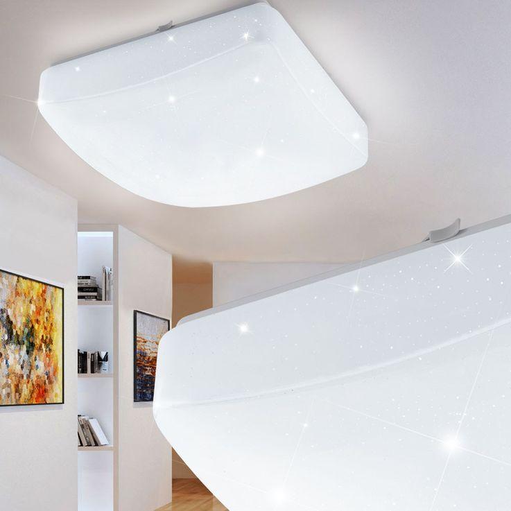 Hochwertige LED Deckenleuchte mit Kristalleffekt – Bild 3