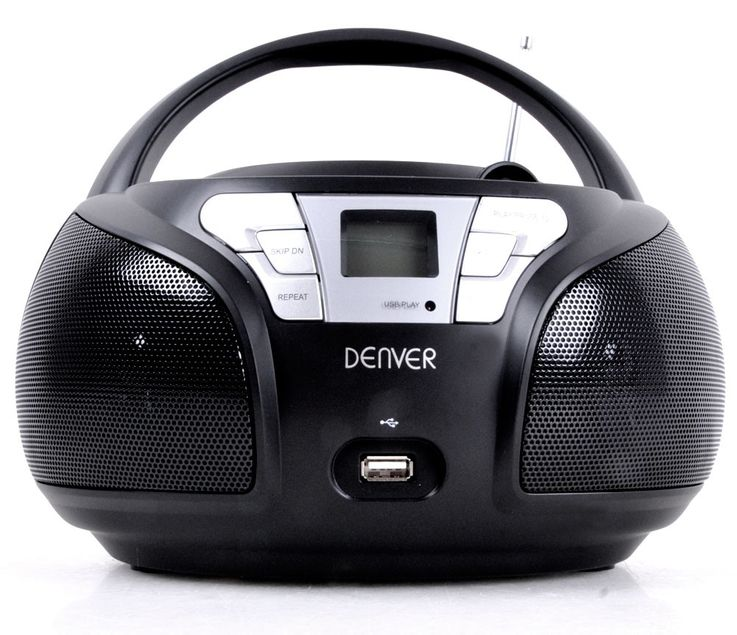 High-quality CD player top loader USB boombox stereo speakers radio Denver TCU 206 black – Bild 4
