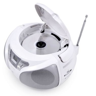 High-quality CD player top loader USB boombox stereo speakers radio Denver TCU 206 white – Bild 5