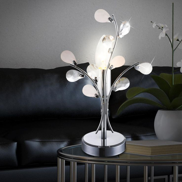 High-quality table light reading lamp floral lighting leaves light Globo 51508T – Bild 6