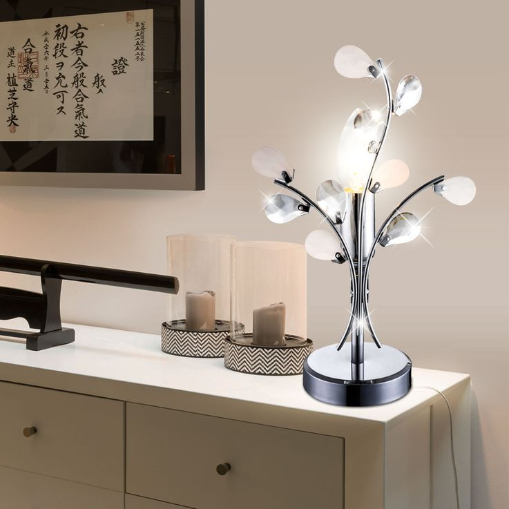 High-quality table light reading lamp floral lighting leaves light Globo 51508T – Bild 4