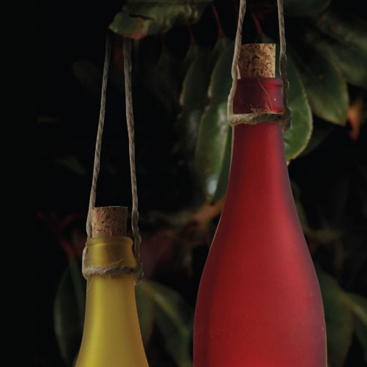 Sechs LED Solar Glasflaschen für den Außenbereich – Bild 5