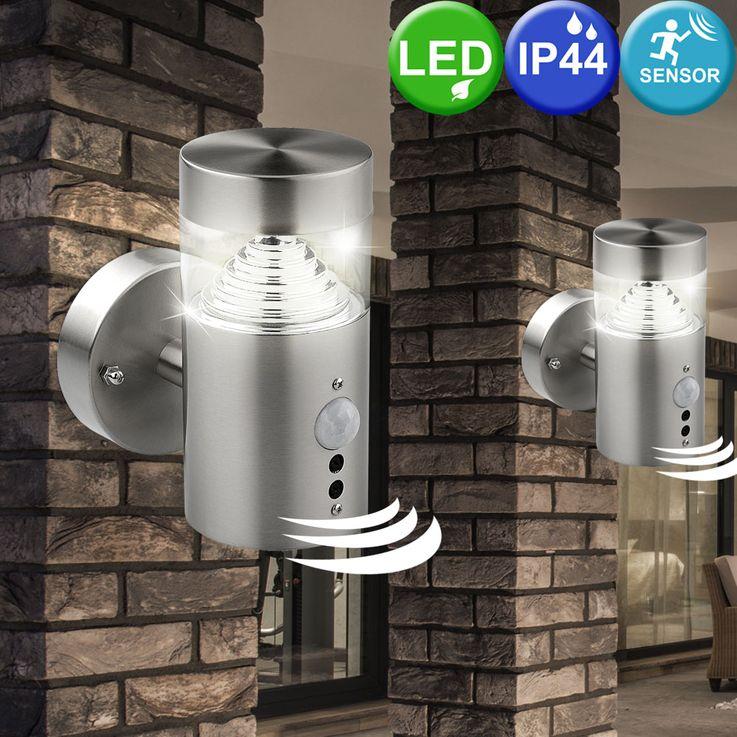 LED wall outdoor light sensor motion detector Spotlight stainless steel lamp BT1103a_up_pir – Bild 4