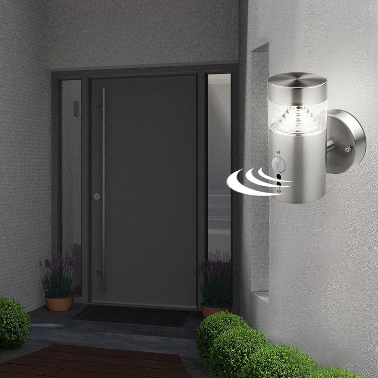 LED Wand Außen Leuchte Sensor Strahler Bewegungsmelder Edelstahl Lampe BT1103a_up_pir – Bild 6