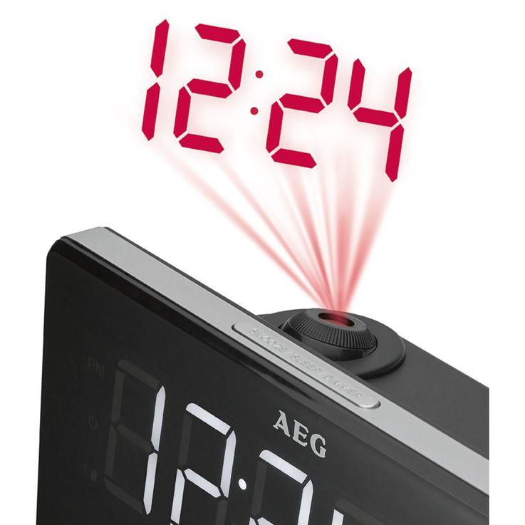 Hochwertiger Radio Wecker Projektor Datum Uhr Temperatur Anzeige AEG MRC 4141 P – Bild 2