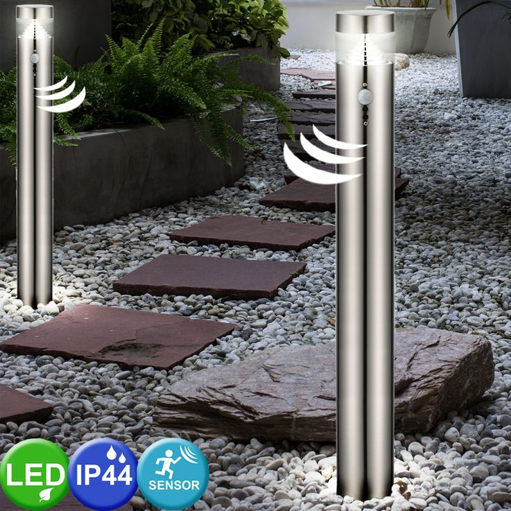 Elegante LED Stehleuchte für den Außenbereich mit Bewegungsmelder – Bild 3