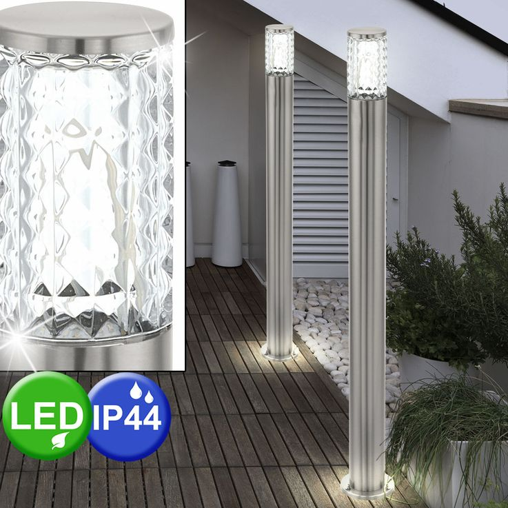 LED outdoor lamp stand structure glass stand lamp garden path lighting Eglo 94132 – Bild 3