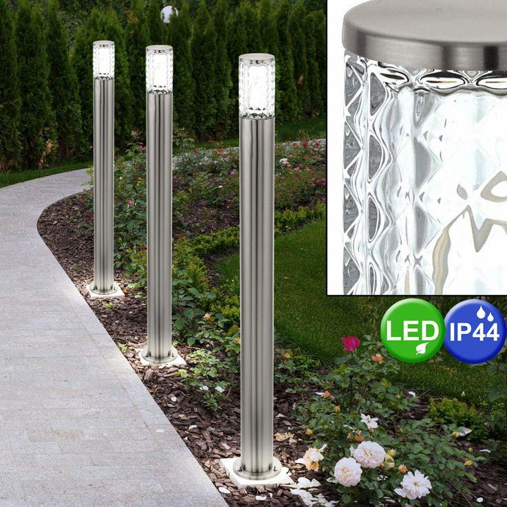 LED Außen Steh Leuchte Struktur Glas Stand Lampe Garten Weg Beleuchtung Eglo 94132 – Bild 4