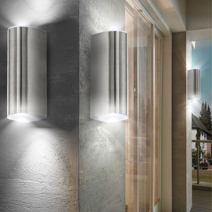 5 watt LED outdoor UP DOWN wall spot lamp lamp stainless steel EGLO 78049 – Bild 5
