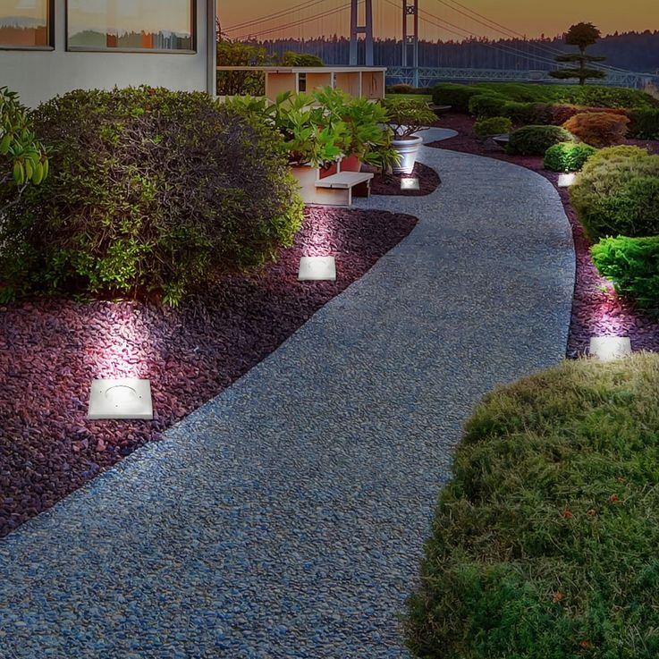 Robuste Boden Einbau Leuchte IP67 Garten Weg Akzent Lampe Hof Außen Strahler Kanlux 07171 – Bild 7