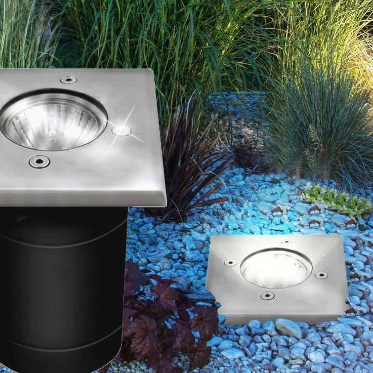 Robuste Boden Einbau Leuchte IP67 Garten Weg Akzent Lampe Hof Außen Strahler Kanlux 07171 – Bild 3