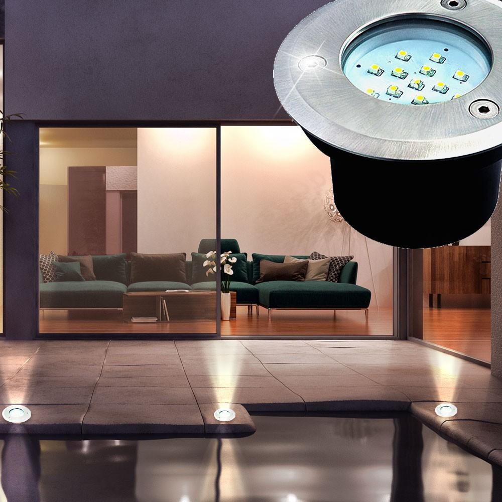 Robuste Led Aussen Leuchte Garten Geh Weg Einbau Lampe Terrassen
