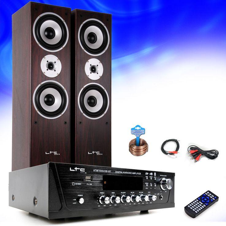 Hifi Heimkino Musikanlage Bluetooth USB MP3 Verstärker Standboxen HIFI-Premium 5 – Bild 2