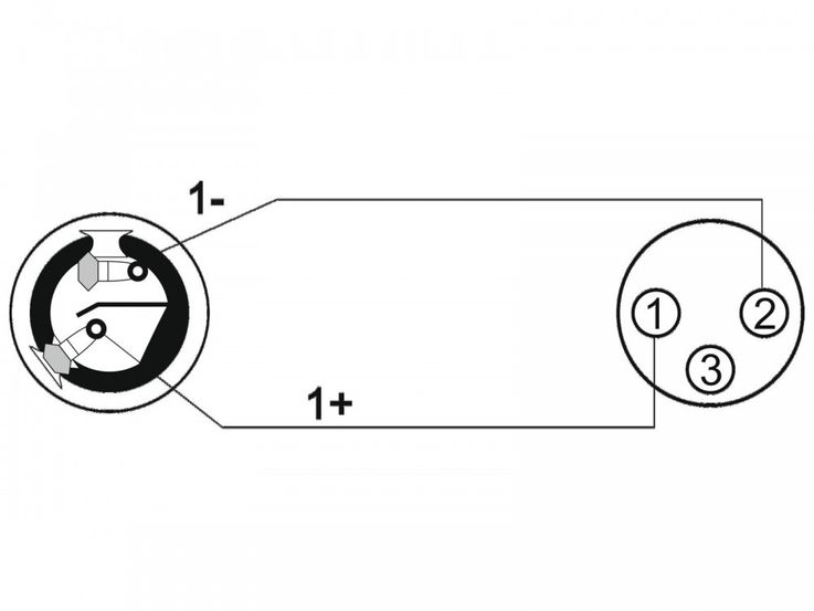 Adapterkabel Speaker(F)/XLR(F) 1m sw OMNITRONIC 30225600 – Bild 3