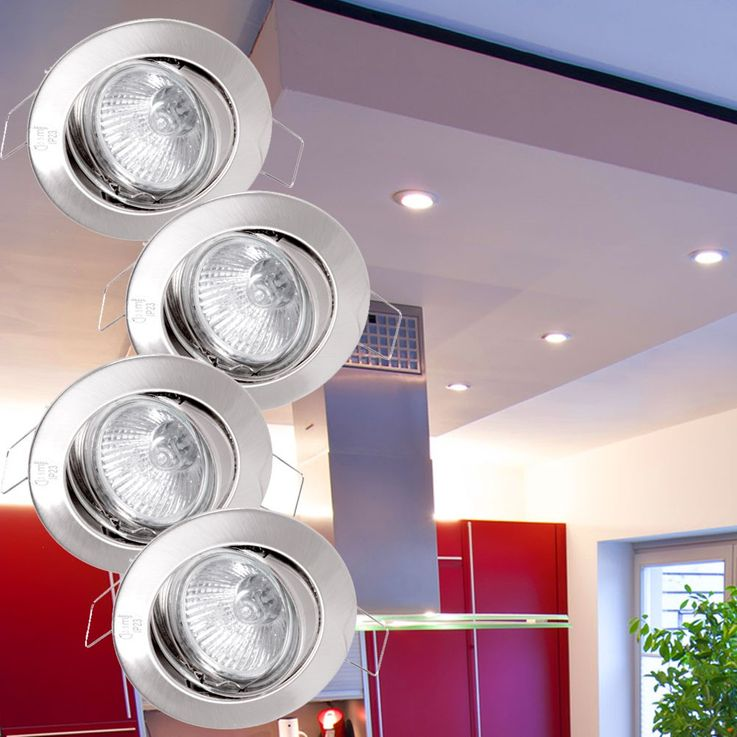 4 set recessed round dining room lights spot lamps adjustable GU10 Paulmann 988.79 – Bild 2