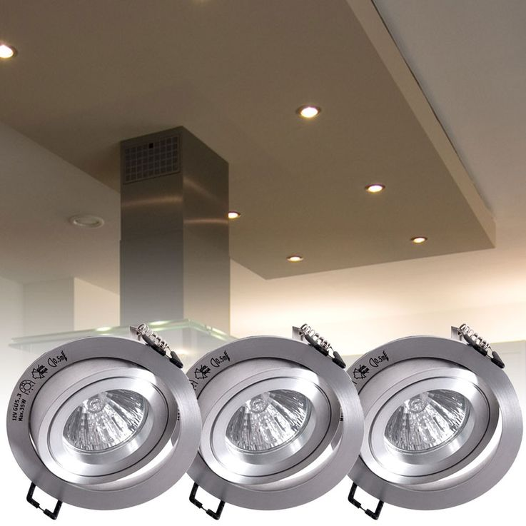 3 set design installation spot Spotlight ALU IP23 lighting lamp rotating Paulmann 925.22 – Bild 2
