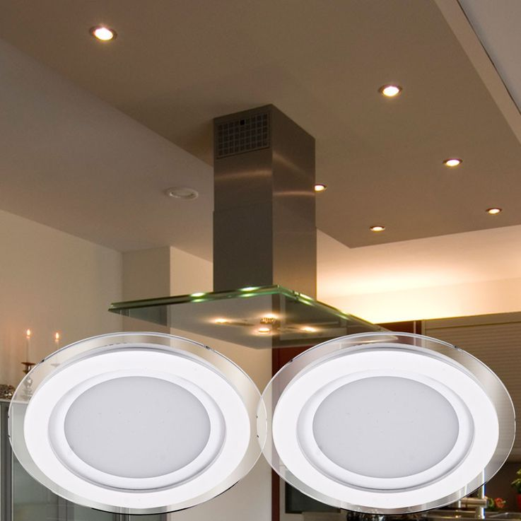 2 set installation LED spotlights spot lamp lamp light lighting white metal Paulmann 927.05 – Bild 2