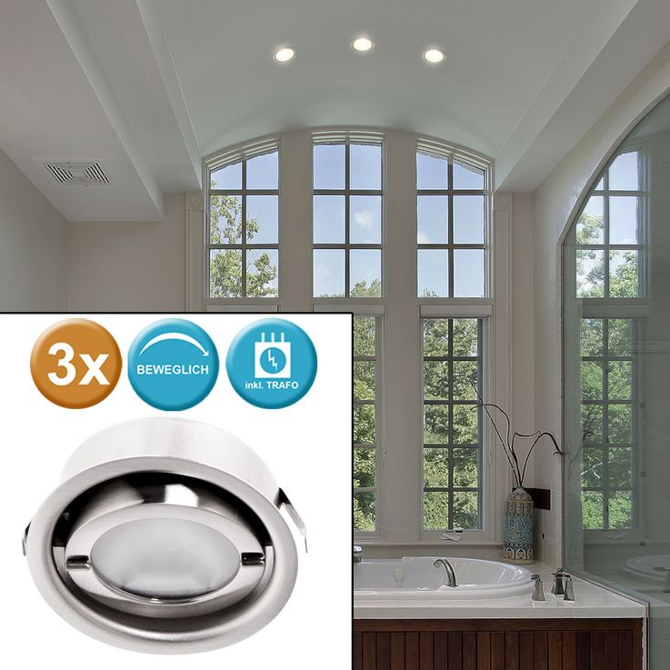set of 3 set of recessed lighting around lighting spot lamps light lights Paulmann 935.21 – Bild 2