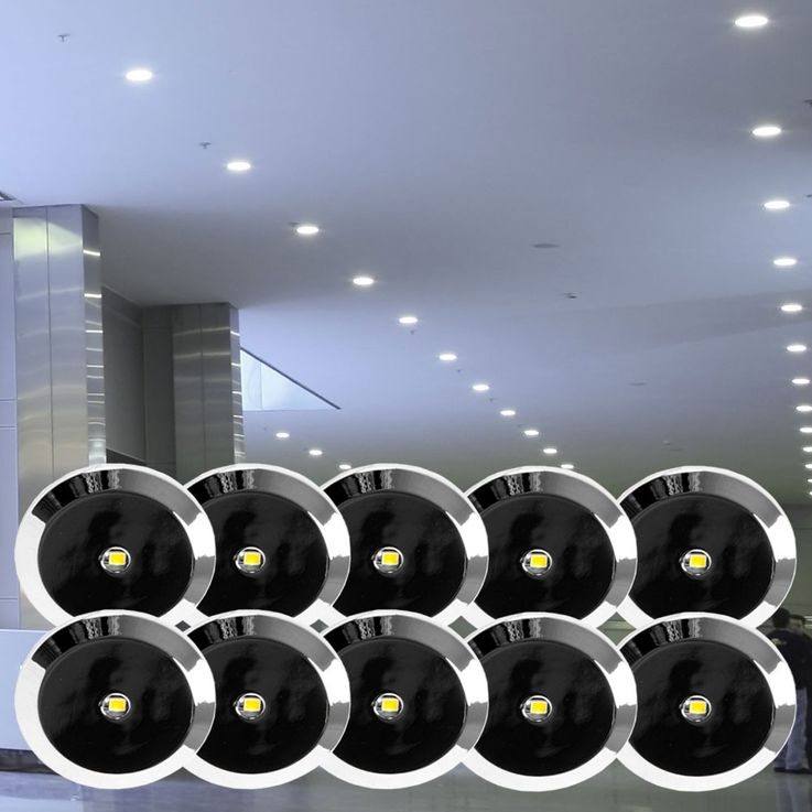 10 set LED Recessed spotlights spots stars sky design lighting Paulmann 998.10 – Bild 2