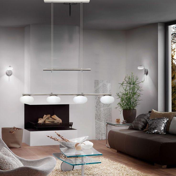 LED 24 Watt Design Decken Pendel Hänge Lampe Stahl Glas höhenverstellbar EGLO 30936 – Bild 3