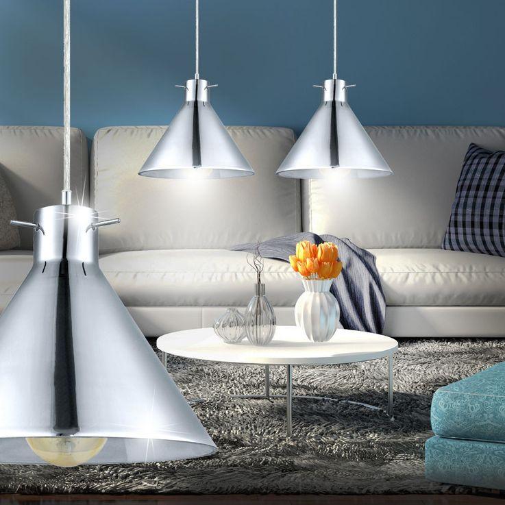 Design Hänge Leuchte Rauch Glas Pendel Lampe Küchen Beleuchtung Eglo 49273 – Bild 6