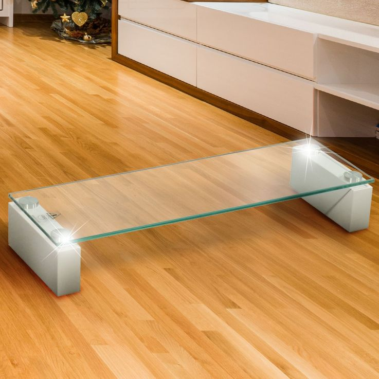 High-quality TV Shelf tempered glass table shelf stable MDF high-gloss BHP B153147-3 – Bild 2