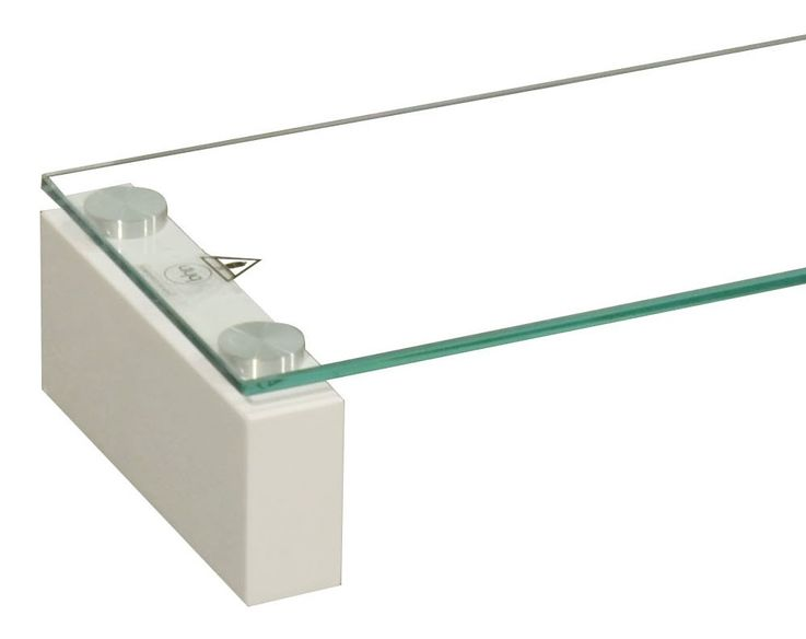 High-quality TV Shelf tempered glass table shelf stable MDF high-gloss BHP B153147-3 – Bild 4