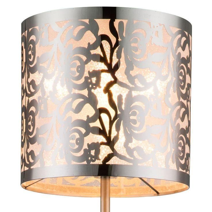 Design stand stand lamp nickel stainless steel screen chrome decor punching Globo 15084 s – Bild 6