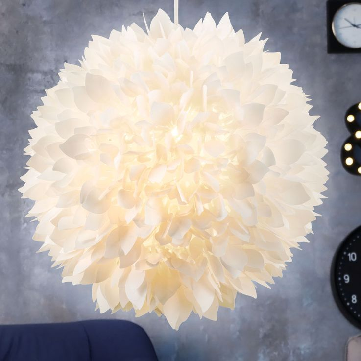 Pendulum hanging ceiling lamp light flower shapes flora shade white Globo 15115 H – Bild 6