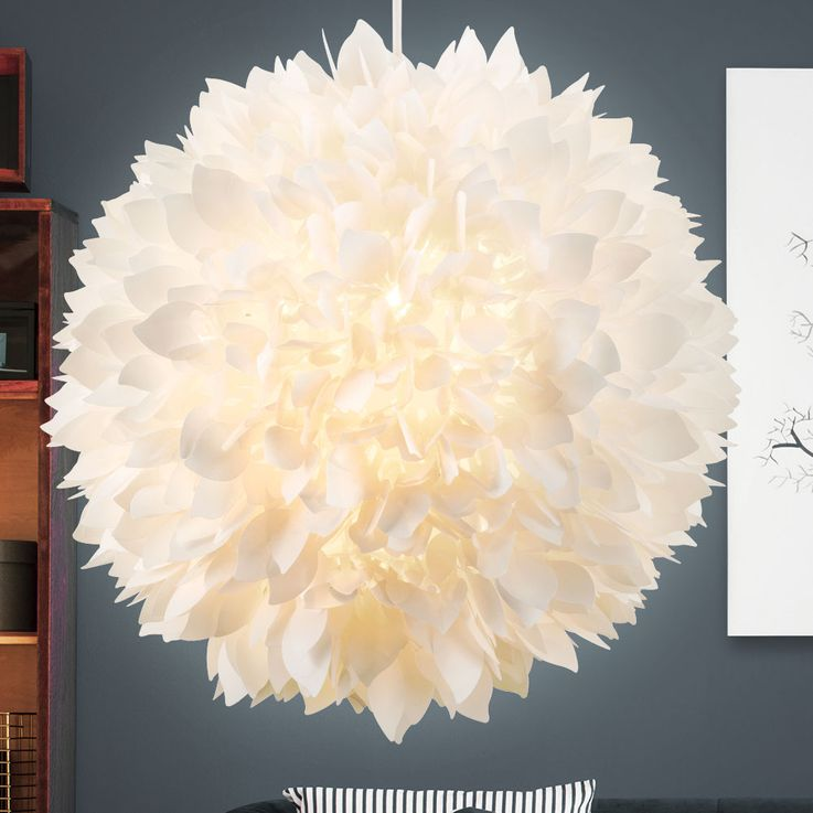 Pendulum hanging ceiling lamp light flower shapes flora shade white Globo 15115 H – Bild 3