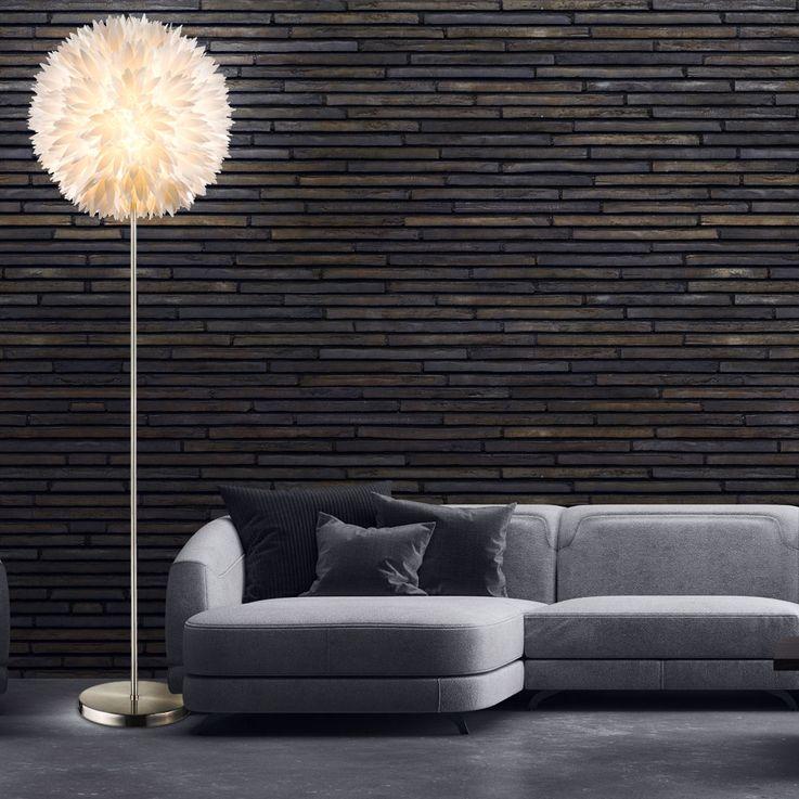 Design Steh Stand Leuchte Gästezimmer Blüten Kugel Lampe Schalter Fassung 1x E27 Globo 15115S – Bild 3
