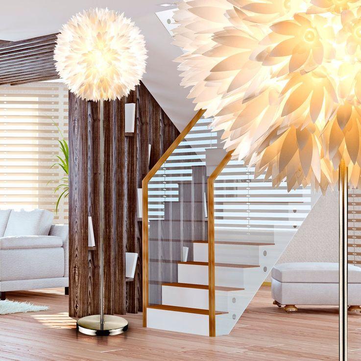 Design Steh Stand Leuchte Gästezimmer Blüten Kugel Lampe Schalter Fassung 1x E27 Globo 15115S – Bild 5