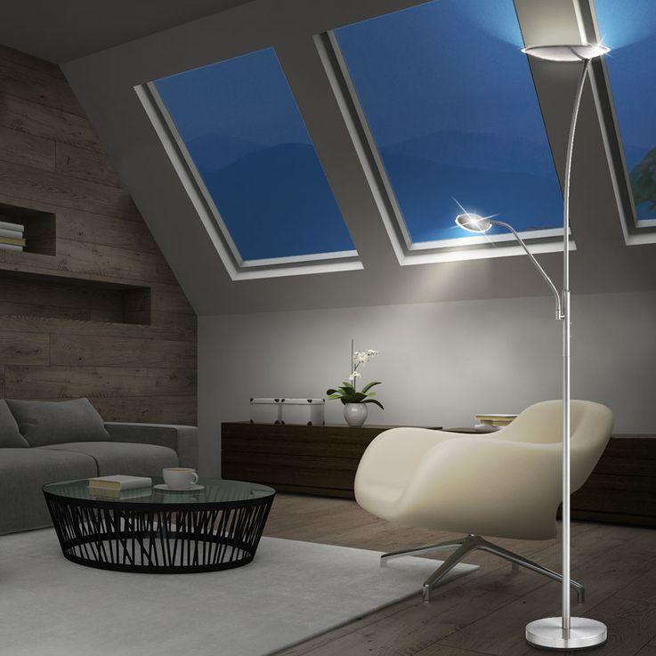 Elegante LED Stehleuchte erstrahlt im modernen Design – Bild 3