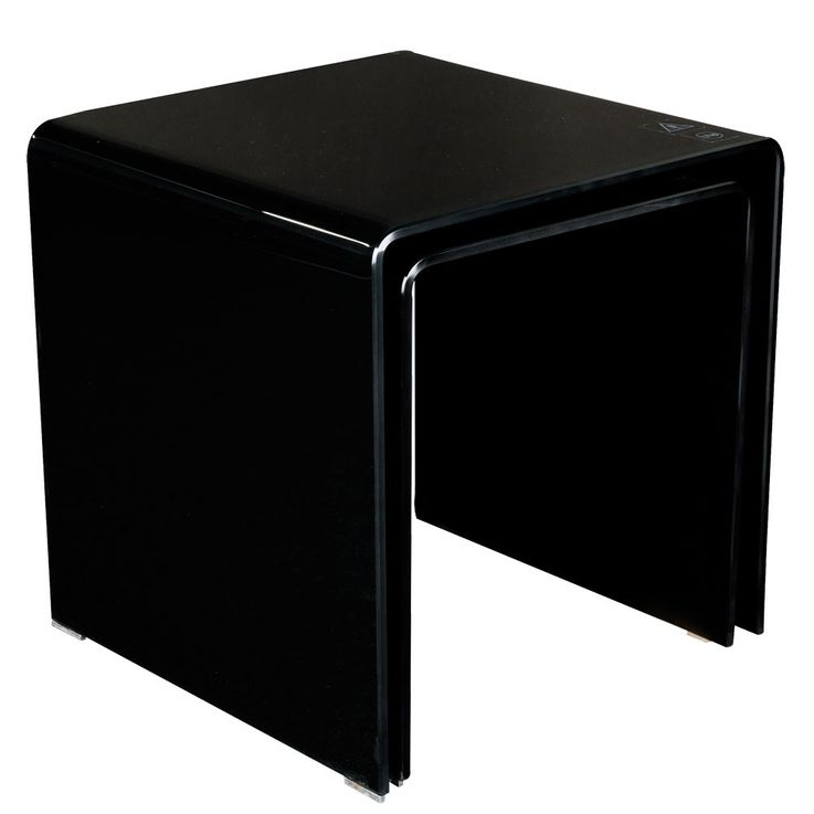 Stand glass table Black 2-piece living room by control extendable decoration BHP B154076-4 – Bild 1