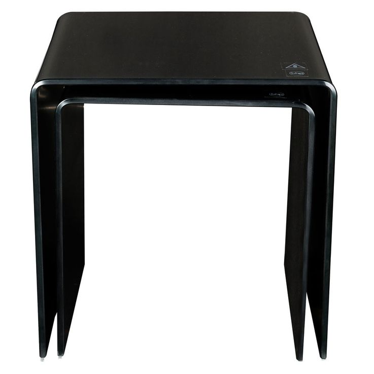Stand glass table Black 2-piece living room by control extendable decoration BHP B154076-4 – Bild 4
