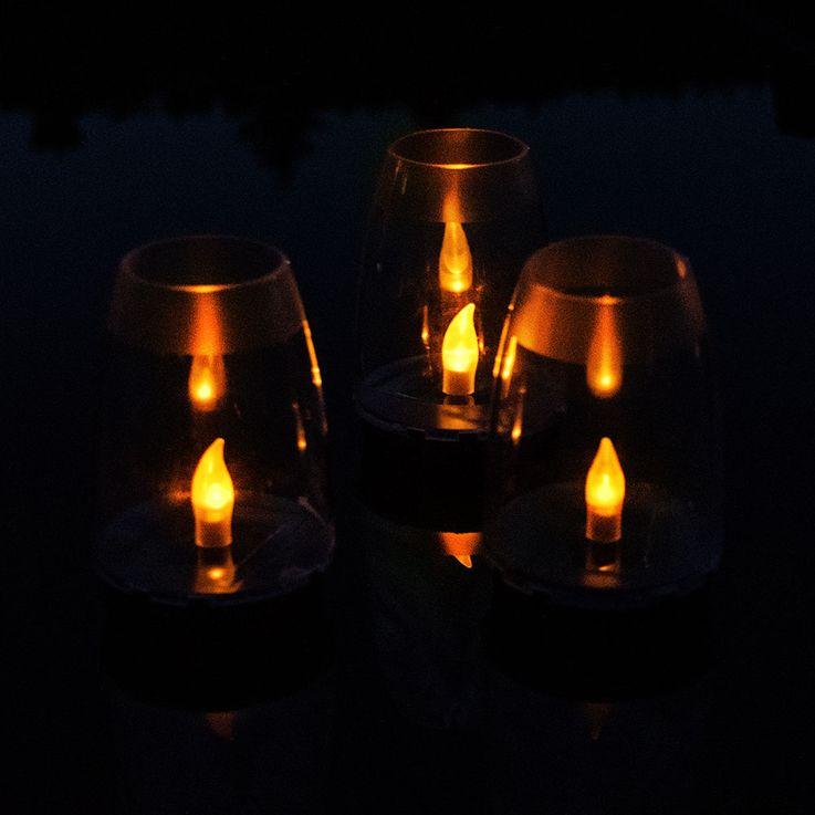 LED Solar Stand Lamp Garden Table Lighting Garden Path Fire Effect Plug Lamp  Globo 33864-24 – Bild 7