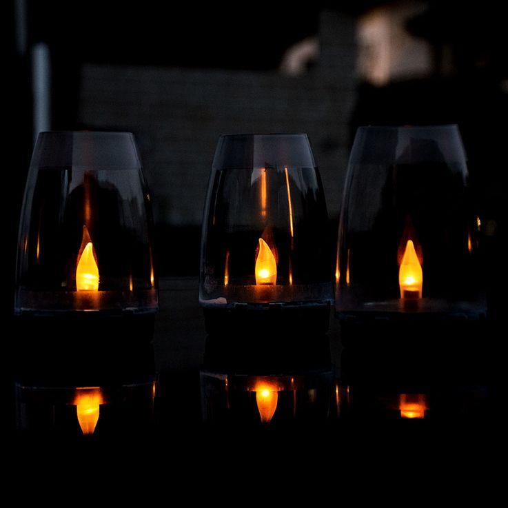 LED Solaire Lampe de Jardin Lampe de Table Éclairage Jardin Chemin Feu Effet Lampe Lampe  Globo 33864-24 – Bild 4